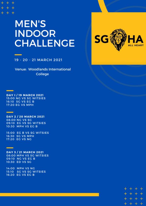 Mens Indoor Challenge Fixtures